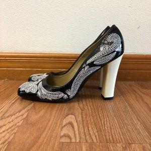 Jessica Bennett Black Leather Women's Shoes